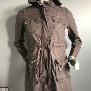 Old Navy Jacket Women's Size XS Brown With Hoodie